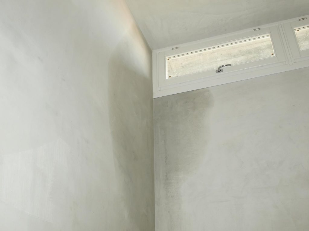 white wall with water damaged